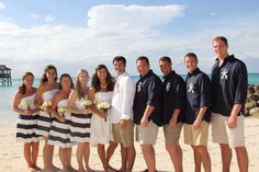 Sandee Royalty: Real Weddings Navy and white striped skirt Beach w...