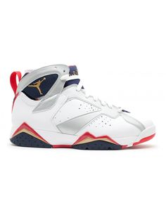 best loved e0d58 1d832 Air Jordan 7 Retro Olympic 2012 Release White Mtllc Gold Obsdn Tr Rd 304775  135 Chaussure