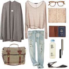 love the pairing of the boyfriend jeans with the loose cardigan by the59thstreetbridge