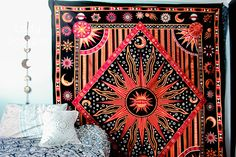 ☽ ✧ ☾The SuperNova Mandala Tapestry by Lady Scorpio | Shop Now LadyScorpio101.com | @LadyScorpio101 | Photography by Stephanie Renfro @StephRenfro | Boho Bedroom Inspiration.