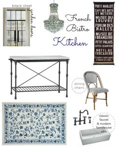 "Visit our site for more relevant information on ""bistro furniture french"". It is actually an outstanding area to read more. French Bistro Kitchen, French Kitchens, Bistro Decor, Kitchen Decor Themes, Home Decor, Kitchen Ideas, Patio Dining, Dining Rooms, Eiffel"