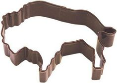 Brown Buffalo Metal Cookie cutter Bison Cookie by JazzyAppleGal, $2.95