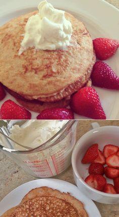 Cinnamon Cream Cheese Pancakes (Keto)