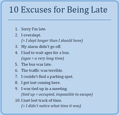 Top 10 Best Excuses for Being Late