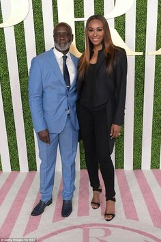 Cynthia Bailey and Peter Thomas at the BET Awards Show in 2015