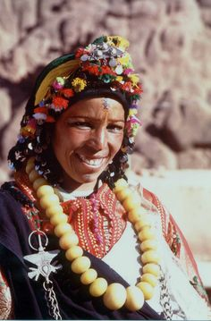 Africa | Beautiful Berber smile.  Morocco | Photographer unknown