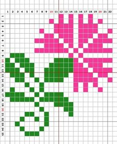 A Clover Flower. Cross stitch chart. #cross_stitch