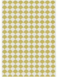 Brita Sweden Gerde Plastic In- & Outdoor Rug order favourable online Outdoor Rugs, Rattan, Yellow, Mood, Home Decor, Ideas, Outdoor Carpet, Modern Carpet, Plastic Art