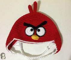 MADRES HIPERACTIVAS: Gorro a Crochet Angry Bird Rojo, patrón