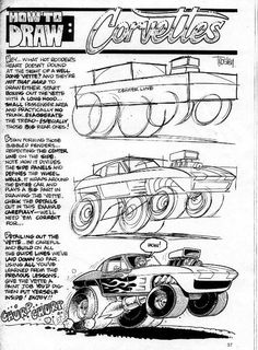 george trosley How To Draw Cars cartoon Cool Car Drawings, Cartoon Drawings, Cartoon Art, Pencil Drawings, Monster Truck Coloring Pages, Cartoons Magazine, Cartoon Books, Comic Books, Car Illustration