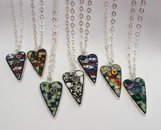 mosaic heart jewelry