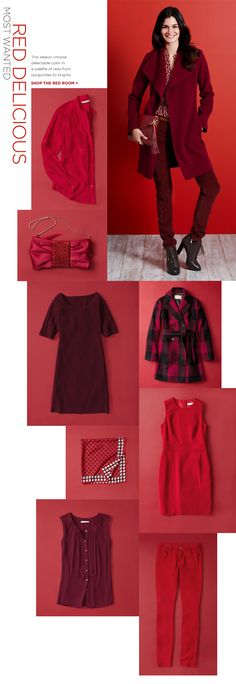 Love a splash of color for the winter months: red