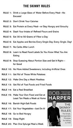 The Skinny Rules - Bob Harper workout-motivation Fast Weight Loss, Weight Loss Plans, Weight Loss Tips, Diet Plans To Lose Weight Fast, Rapid Weight Loss Diets, Tips On Losing Weight, Get Healthy, Healthy Tips, Healthy Weight