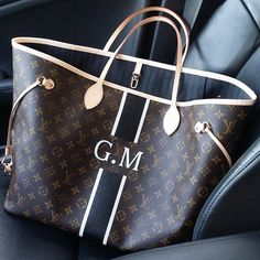"personalized LV ""GM Neverfull Mono"""