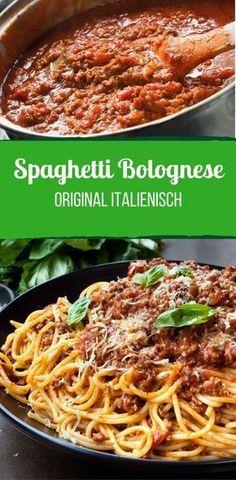 Spaghetti Bolognese einfach selbst machen – so geht's! - Original Italienische Spaghetti Bolognese Imágenes efectivas que le proporcionamos sobre diy clothe - Pasta Bolognese, Best Bolognese Sauce, Slow Cooker Bolognese Sauce, Vegan Bolognese, Pasta Carbonara, Spaghetti Squash Recipes, Baked Spaghetti, Pasta Recipes, Pasta Spaghetti