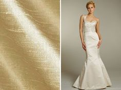 Dupioni - List of the Trendiest Wedding Dress Material and Fabrics - EverAfterGuide