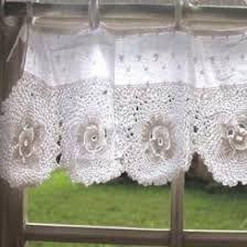 LavoriDiFata: Tende cucina - tessuto e uncinetto | My knitting and ...