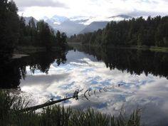 Known as Mirror Lake, Lake Matheson, near the Fox Glacier in South Westland, New Zealand