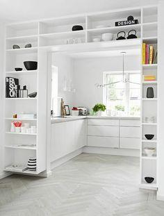 Built-Ins around kitchen doorway. Love.