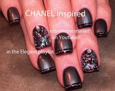 Nail-art by Robin Moses Chanel Inspired http://www.youtube.com/watch?v=Scmbqe-FGV8