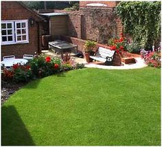 Patio and Garden divided by flower bed!