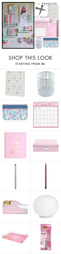 """""""Pink Organization"""" by icy-frappe ❤ liked on Polyvore featuring interior, interiors, interior design, home, home decor, interior decorating, Home Decorators Collection, House of Doolittle, Urban Decay and MAC Cosmetics"""