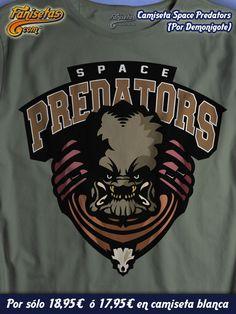 Nosotros somos fieles de los #SpacePredators. No sabemos por que, pero los partidos son brutales y el equipo contrario siempre acaba destrozado. Igual es por el dispositivo de camuflaje wink emoticon #Camisetas #Predator #Cine #Divertidas #Fanisetas http://www.fanisetas.com/camiseta-space-predators-p-5607.html