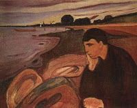 Mélancolie for alto saxophone and organ is a short piece that can be used as a meditation in liturgy. The atmosphere it sets can help people refocus on onself. Edvard Munch, Saint Thomas Aquinas, Gospel Of Luke, Music Score, Edd, Les Oeuvres, Illustration, Painting, Bergen