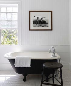 sylvan ideas: Rooms - Airtable Black White Bathrooms, Vintage Tub, Bathroom Colors, Bathroom Ideas, Shower Bathroom, Color Tile, Classic House, Amazing Bathrooms, Master Bathrooms