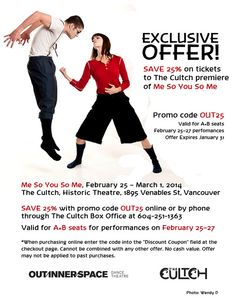 SAVE on tickets to The Cultch.