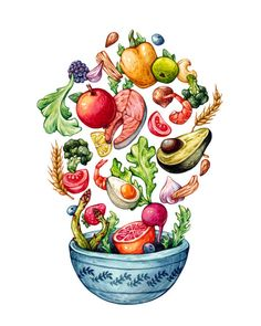 Healthy food. Olga Svart Illustration