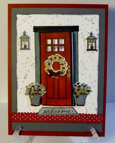Stampin Up's new At Home stamp and thinlets set.