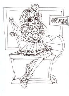 Free Printable Monster High Coloring Pages: C.A. Cupid