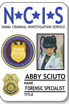 39ff5f19b ABBY SCIUTO Forensic Specialist from NCIS Magnetic Fastener Name Badge  Halloween Costume Prop by Badgelady117 on