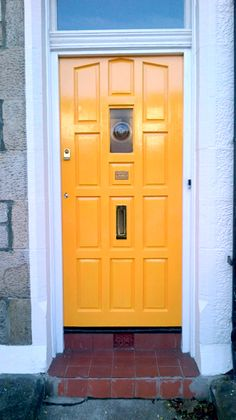 Door painted with Crown Tibetan Gold Tall Cabinet Storage, Locker Storage, Painted Front Doors, World Of Color, Gold Paint, Paint Colors, Interior Design, Painting, Crown