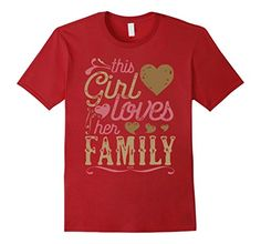 Family Shirt - This Girl Loves Her Family Tshirt Tee. Agreed? Family Shirt, Family Tshirt, Family Clothes, Family Mug, Family, Families, #roninshirts