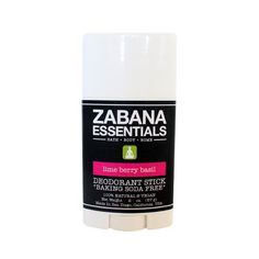 Baking Soda Free* Deodorant Stick Lime Berry Basil – Zabana Essentials