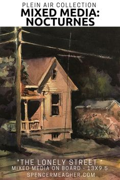Click here to see this nocturne painting from Spencer Meagher was painted en plein air and features a historic home under a street lamp. This piece of artwork would make a unique gift. Prints can be purchased on Fine Art America.