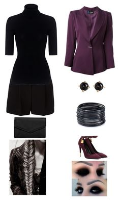 """""""Sin título #369"""" by aolivero ❤ liked on Polyvore featuring Tom Ford, DKNY, Theory, ABS by Allen Schwartz, LULUS, Irene Neuwirth and Claude Montana"""