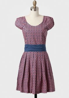 Garden Party Pleated Dress By Mata Traders