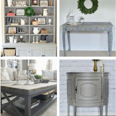 25 Beautiful Gray Painted Furniture Pieces that will Inspire – diy bathroom decor Gray Painted Furniture, Refurbished Furniture, Repurposed Furniture, Furniture Makeover, Furniture Refinishing, Fixer Upper, Apartment Therapy, Bathroom Mirrors Diy, Refacing Kitchen Cabinets