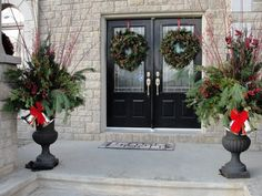 56 Stunning Christmas Front Door Décor Ideas  Family Holiday