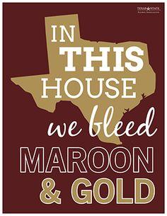 Texas State University Printable for Home or Office   https://alumni.txstate.edu/bobcat-pride/alumni-blog