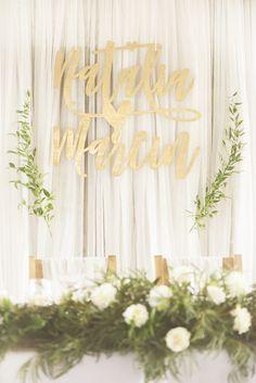 ścianka za parą młodą / wedding backdrop Sweetheart Table, Diana, Wreaths, Weddings, Flowers, Design, Decor, Self, Decoration