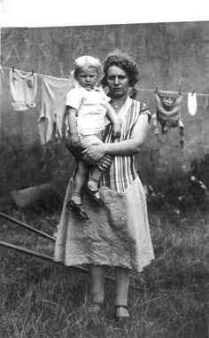 Laundry day. She reminds me of my Grandmother McCulley, but she would be smiling.