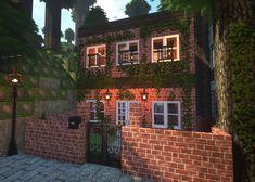 Craft Minecraft, Minecraft Brick, Villa Minecraft, Modern Minecraft Houses, Minecraft House Plans, Minecraft Mansion, Minecraft Cottage, Minecraft House Tutorials, Minecraft Houses Blueprints