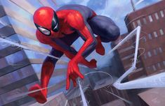 Illustration for the Adobe Creative Cloud and Spider-Man: Into The Spider-Verse art contest and other illustrations. Spiderman Poses, Comics Spiderman, Spiderman Drawing, Spiderman Movie, Amazing Spiderman, Marvel Comic Universe, Marvel Art, Marvel Heroes, Marvel Avengers