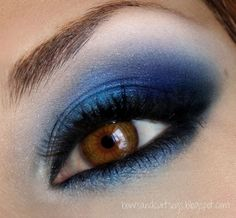 Electric blue for brown and hazel eyes... I might try this...stay tuned...