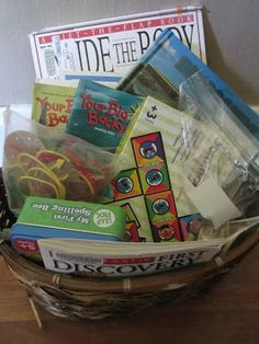 Discovery Quiet Time Basket-for older kids who do not nap anymore.