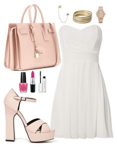 """""""You're the one that I want"""" by kabylou ❤ liked on Polyvore featuring TFNC, Yves Saint Laurent, ALDO, Bee Goddess, Steve Madden, OPI and Bobbi Brown Cosmetics"""